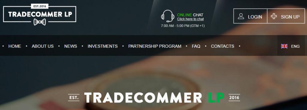 Главная страница tradecommer.exchange