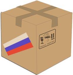 Карикатура - короб РФ товара