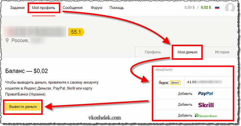 Привязка ЭПС и перевод денег из Яндекс.Толока