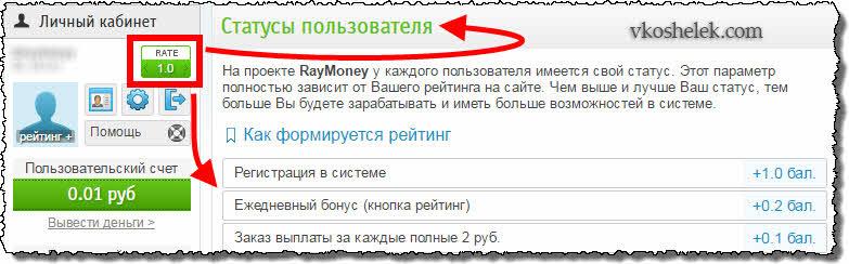 Рейтинг RayMoney