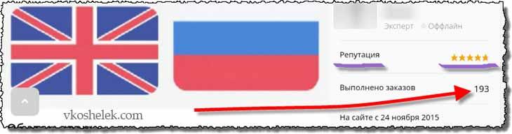 Показатели переводчика