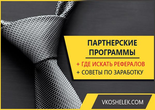 Превью к публикации о заработке на рефералах и партнерках