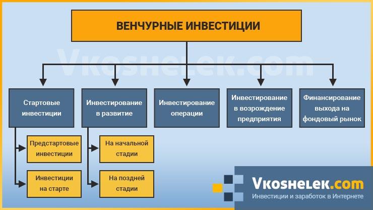 Схема всех видов венчурного инвестирования