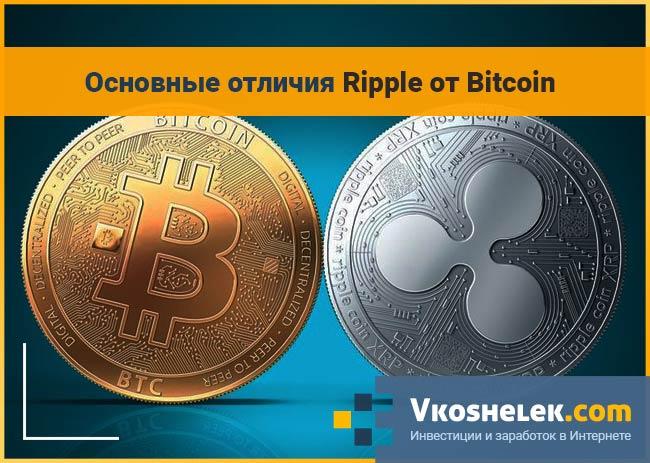 Ripple против Bitcoin