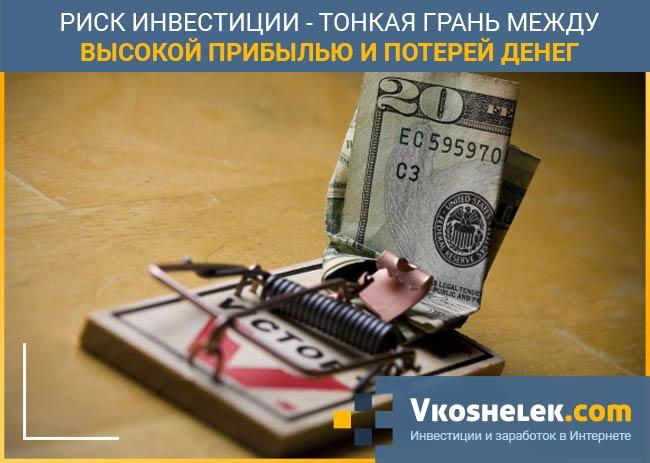 Риски потерять вложенные деньги