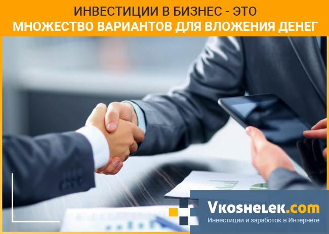 Вложения в бизнес проект