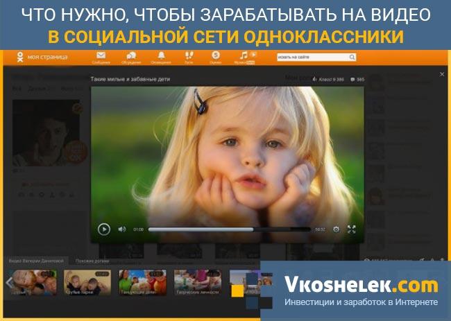 Видеоролики в сети Одноклассники