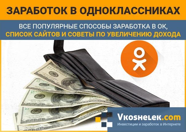 Превью обзора про заработок в сети Одноклассники