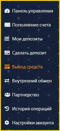 Пользовательское меню проекта