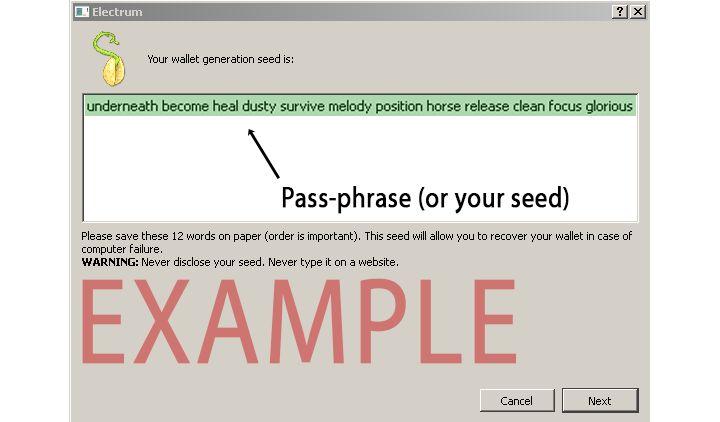 Пример Seed